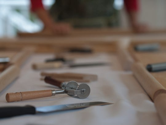 Jolynn Deloach's pasta tools are shown during handmade pasta making demonstration at her home in Merchantville.