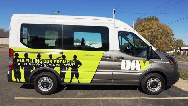 Marshfield's new Disabled American Veterans van.