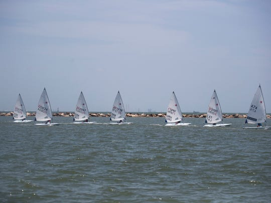 Kids participate in the World Sailing-Emerging Nations