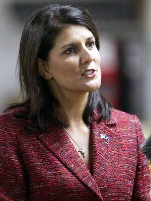 South Carolina Gov. Nikki Haley, a Republican, is among more than half the nation's governors who don't want Syrian refugees in their states.