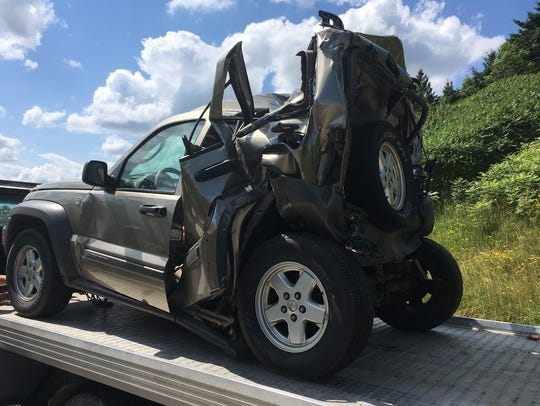The driver of a Jeep Liberty died from injuries he