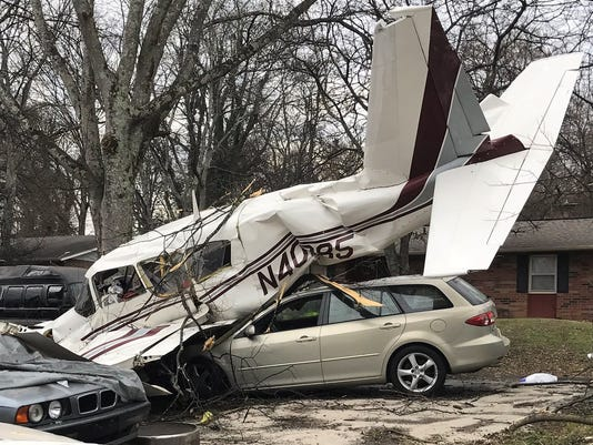 The plane crash on Dec. 19 in Knoxville