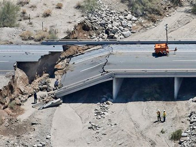 Collapsed California I-10 bridge to reopen in September