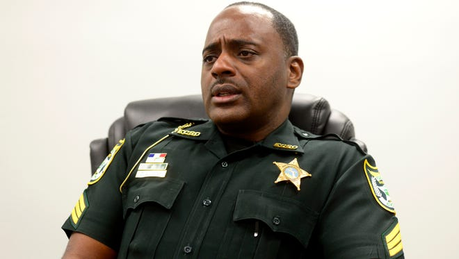Sgt. Delerian Wiggins, with the Escambia County Sheriff's Office, talks about an upcoming Church Safety and Security workshop to be held at 6:30 p.m. Nov. 3 at Marcus Point Baptist Church. The workshop is open to the public and will outline a plan for those facing a possible active shooter scenario.