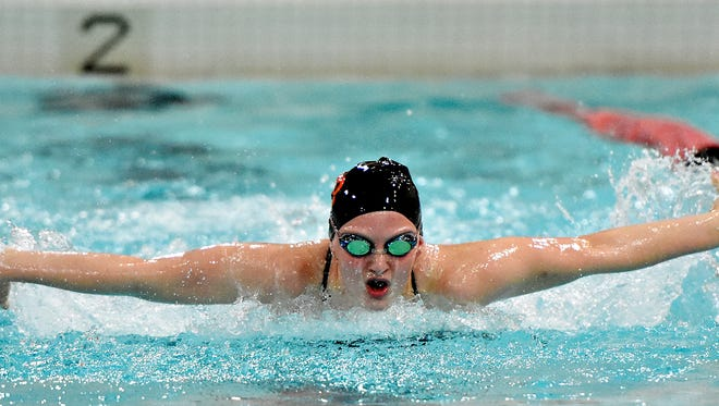 York Suburban's Carson Gross plans to enter her final district meet more relaxed and enjoying the moment. (Dawn J. Sagert - The York Dispatch)