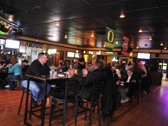 The Half Penny Bar and Grill in south Salem is packed  Tuesday, May 22, 2012.