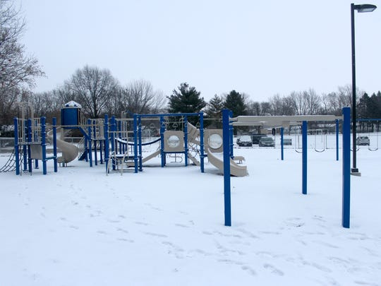 The oldest of two playgrounds areas at Grant Wood Elementary.