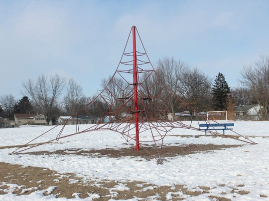 A modern climbing structure that officials say is safer than out-dated, dome-shaped structures.