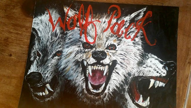 This Wolf Pack logo used by the now-defunct youth hockey team for at-risk youth was created by the late son of the program's founder, June Ewart. Organizers hope the Simi Valley-based program can start up again with more participants.