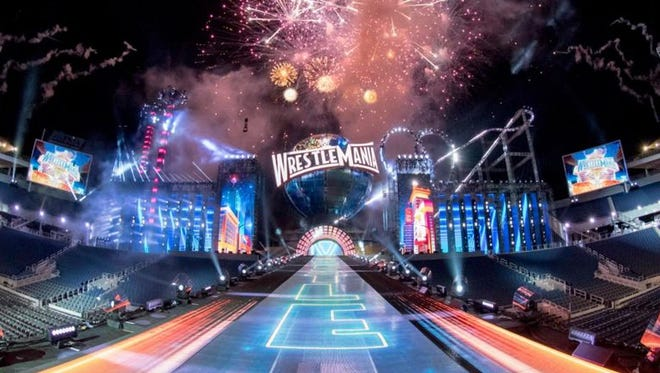 WrestleMania 33's main card begins at 7 p.m. ET on Sunday.