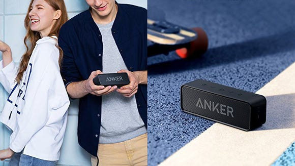Never miss a beat with this handy little speaker.