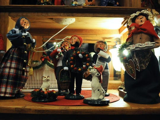 The Byers Choice Carolers are among the collectible Christmas figures available at Tannenbaum Holiday Shop in Sister Bay. Always in a singing posture, the handmade cloth figurines are made in Pennsylvania. To see more photos from inside the holiday shop, go to www.doorcountyadvocate.com. Tina M. Gohr/Door County Advocate