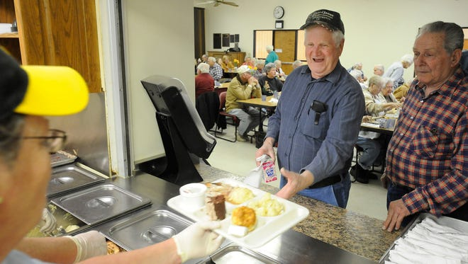 Lunch at the Van Matre Senior Center is very popular with area seniors.