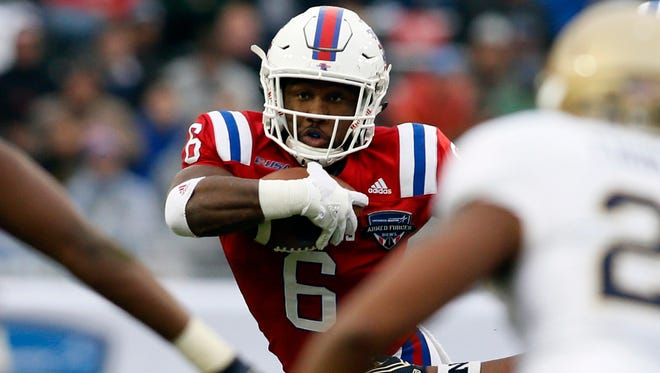 Louisiana Tech running back Boston Scott (6) will return as one of the key pieces in the Bulldogs' backfield in 2017.