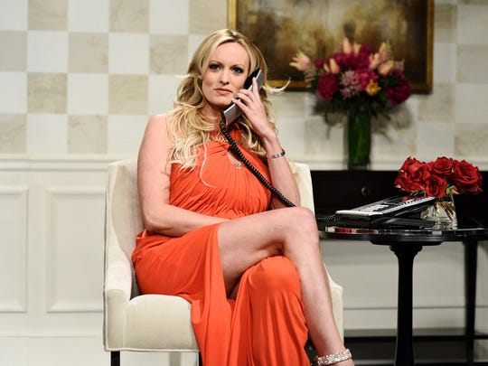 "Stormy Daniels on NBC's  ""Saturday Night Live,"" New York, May 5, 2018."