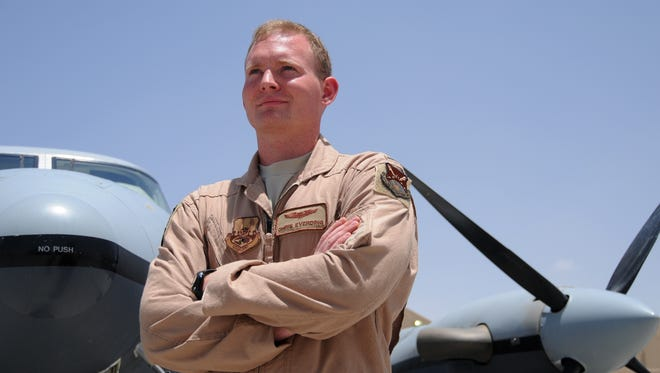 Everding appears in this 2012 photo in Afghanistan.