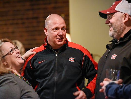 St. Cloud State University hockey coach Bob Motzko