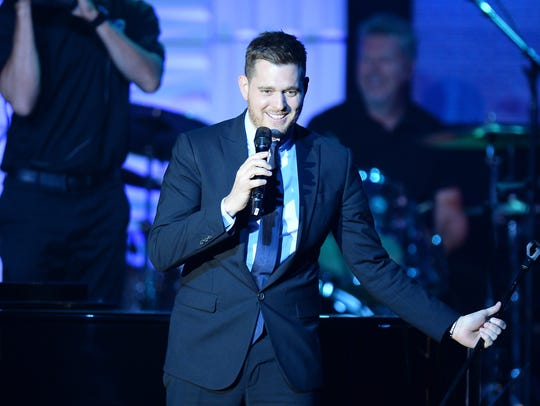 Michael Buble performs during Muhammad Ali's Celebrity
