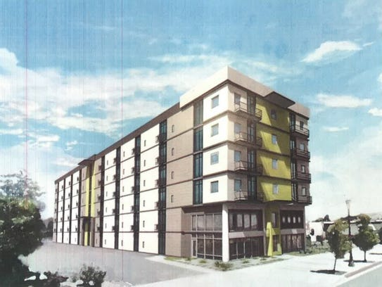 An artist rendering of the new lofts at the former