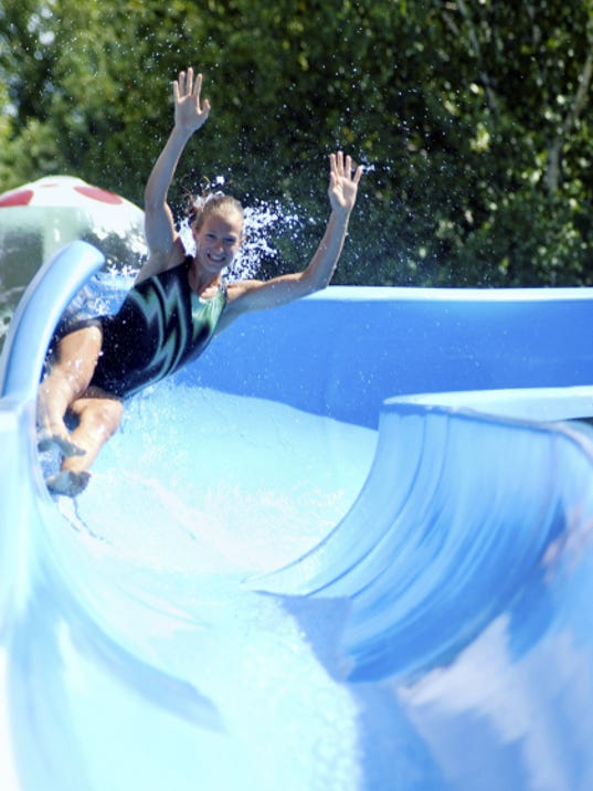 Water slides are the latest diversion to hit everywhere but the ocean. Hagerstown, Md., will host a water slide event Aug. 29