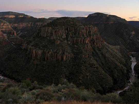 U.S. Route 60 crosses the Salt River on Arizona's Fort Apache Indian Reservation.