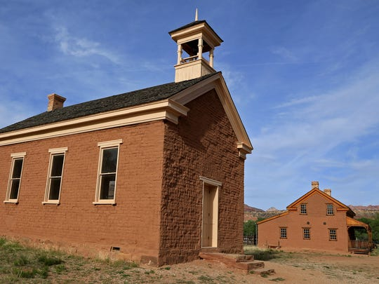 These buildings in the ghost town of Grafton were featured