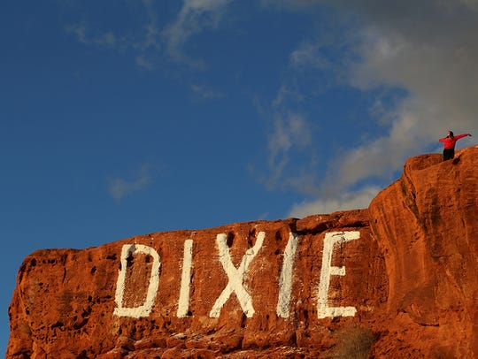 Do the iconic St. George activity by climbing to the