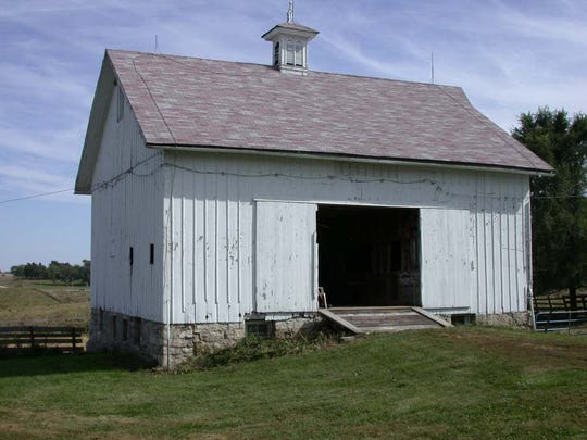 The Gillespie barn in Winterset was built in 1874.