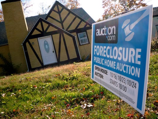 A foreclosed home in White Plains went up for public auction in 2010.