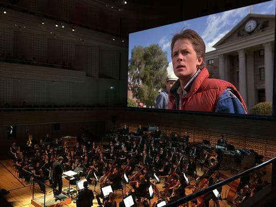 """Back To The  Future In Concert"" features live orchestral accompaniment to the movie."
