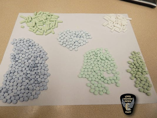 Ohio Highway Patrol oxycodone and alprazolam