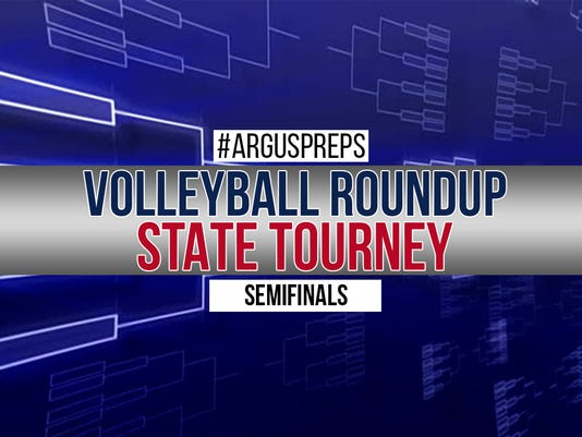 Volleyball roundup: State tourney Day 2