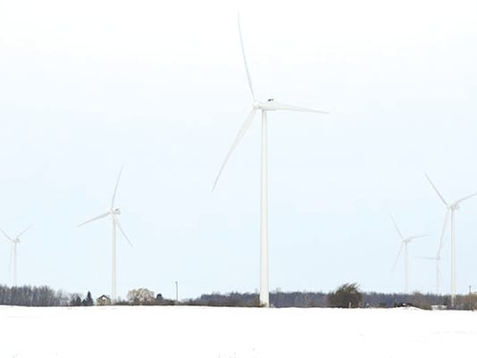 Row of turbines