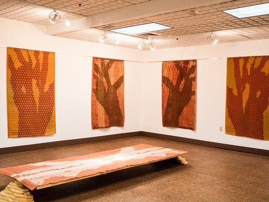 635917518485720043-JCC-Patio-Gallery-Following-the-Thread-Jay-Kreimer-and-Wendy-Weiss-Against-the-Sky-Weavings-from-the-installation.jpg