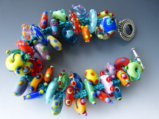 Colorful jewelry by Tamara St. Jean of El Paso will