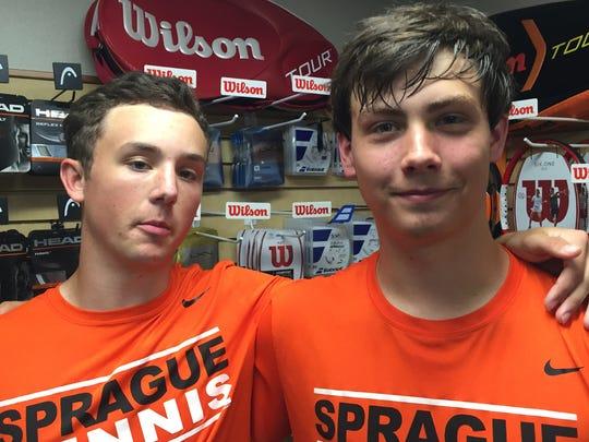 Sprague senior Jonah Lovell (left) and junior Nate Harder (right)