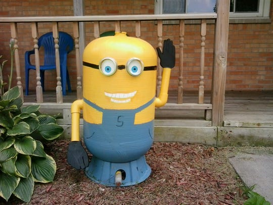 This yard ornament was stolen Monday.