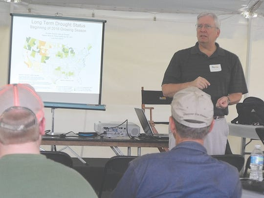 Marketing crops, secrets for soybean success, and the ever-popular topic of weather were subjects touched on during the daylong program.