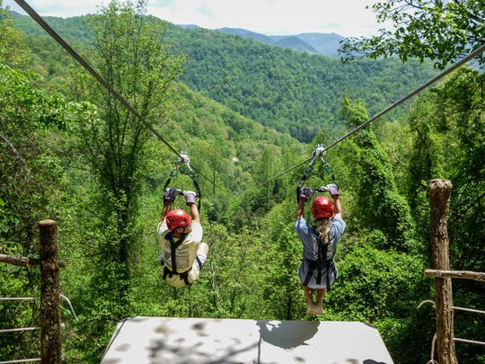 Navitat Canopy Adventures is located in Barnardsville, a short drive from downtown Asheville.