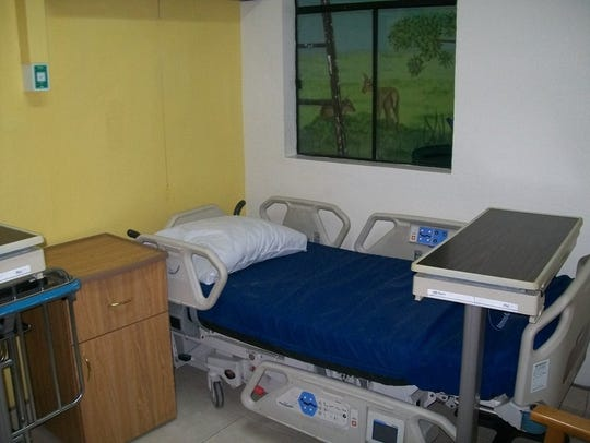 A patient recovery room at the Moore Pediatric Surgery