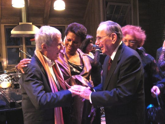 Dionne Warwick, Burt Bacharach, left, with Hal David