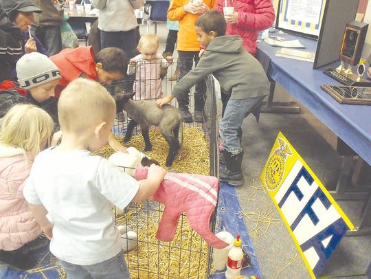 The BACC FFA shares some of their new lambs and kid