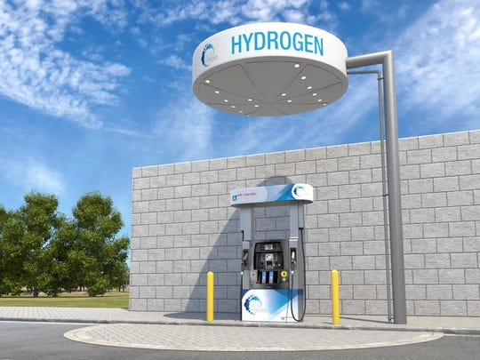 A rendering of what Lodi's hydrogen fueling  station will look like.