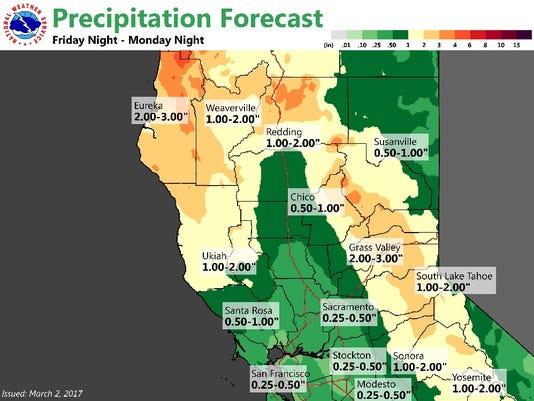 Precipitation Forecast, Feb. 2