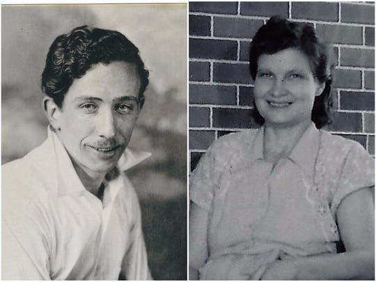 John Fulstone, left, and Annie Louise Holt Fulstone