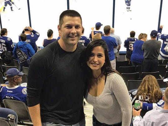 Kennya Gonzalez Ojeda and her boyfriend Vince Moore at a hockey game. (Photo courtesy of Vince Moore)