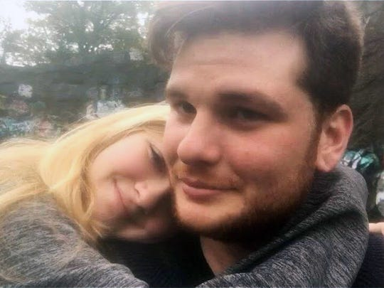 This undated photo provided by Kianna Kaizer shows Jeremy Himmelman and his girlfriend, Kianna Kaizer. Himmelman was fatally shot along with Andrew Oneschuk, 18, in Tampa. After his arrest, roommate Devon Arthurs told police that he killed Himmelman and Oneschuk because they, along with Atomwaffen's leader Brandon Russell, were planning to bomb synagogues, nuclear facilities and other sites. Arthurs has since pleaded not guilty to murder charges.