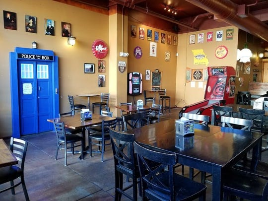 Every corner of 417 Taphouse has some kind of geek or nerd flair: Star Wars, Harry Potter, Dr. Who, superheroes, etc