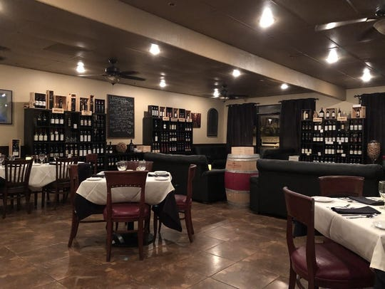 The lounge area at Alessia's Ristorante Italiano in