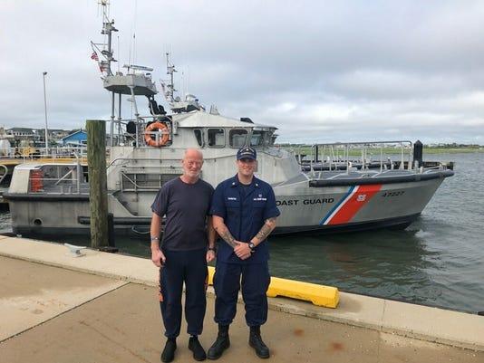 Man attempting transatlantic rowboat voyage rescued by Coast Guard off Barnegat Light, NJ
